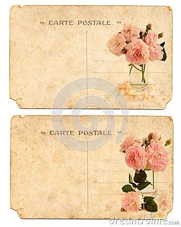 Old postcards back side