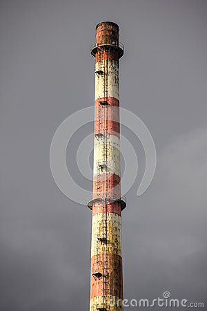 Old power plant chimney - detail
