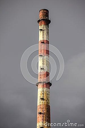 Detail. Poolbeg old power plant chimney. Dublin.Ireland