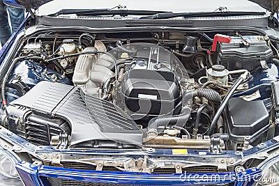 Old powerful car engine