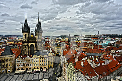Old Prague City Editorial Stock Image