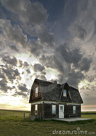 Free Old Prairie House Royalty Free Stock Photography - 393047