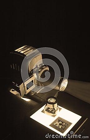 Old Projector & Slides