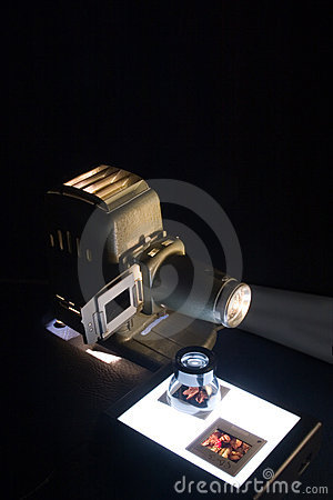 Old Projector & Slides