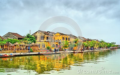 Old Quarter of Hoi An town in Vietnam Stock Photo