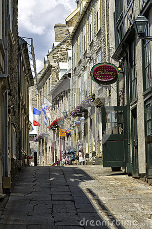 Old Quebec City Editorial Stock Image