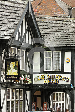 old queens head pub chester england editorial image. Black Bedroom Furniture Sets. Home Design Ideas