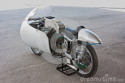 Old racing motorcycle Moto Guzzi Editorial Photography