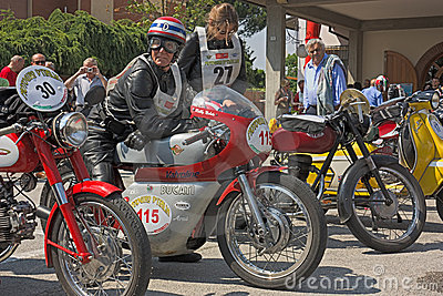 Old racing motorcycles Editorial Stock Image