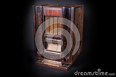 An old radio.
