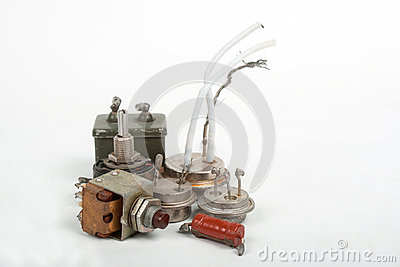 Old radio components