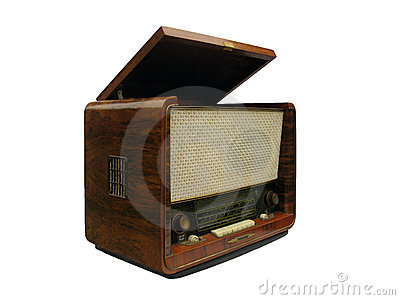 Old radio receiver and record-player