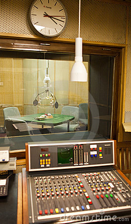 Old radio studio inside