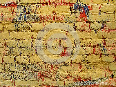 Old, ragged brick wall texture