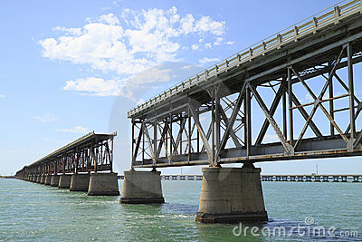 The old Railroad Bridge on Bahia Honda Key