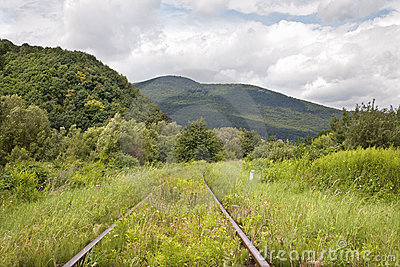 Old rails in the landscape