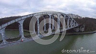 Old railway bridge stock video footage