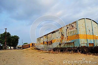 Old railway coach HDR