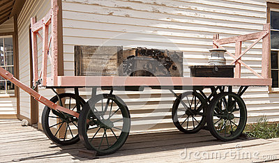 Old railway luggage cart