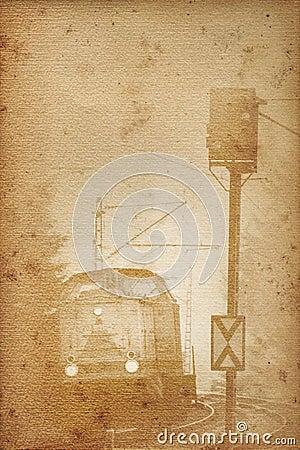 Old railway paper