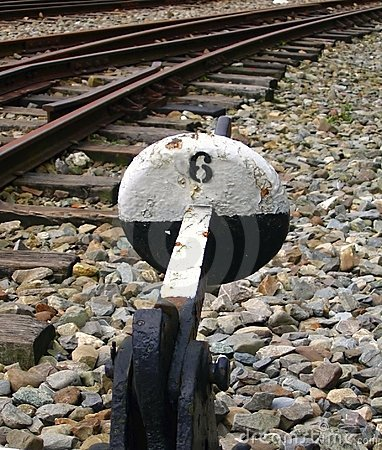 Free Old Railway Switching Device Royalty Free Stock Photos - 1240168