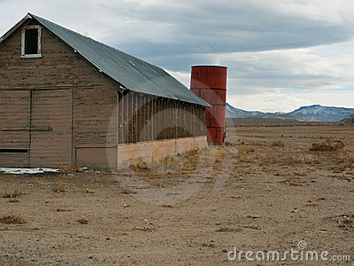 Old ranch buildings in Western Nevada