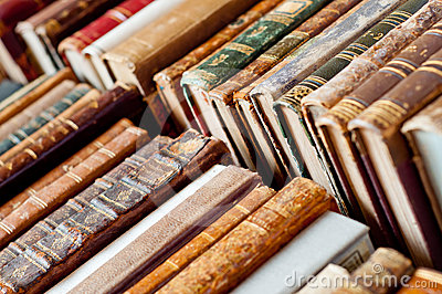 Old rare books background