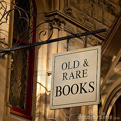 Old & Rare Books Sign
