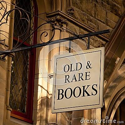 Old & Rare Books Sign