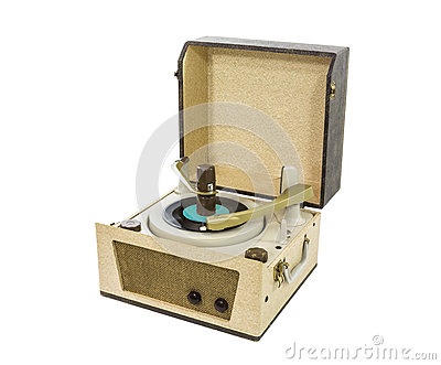 Old Record Player from the 1960 s