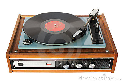 An old record-player
