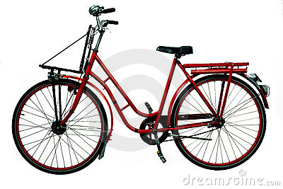 Old red bicycle