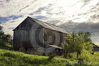 Old red dairy barn