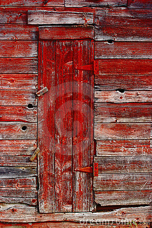 Free Old Red Door Stock Photography - 3345602