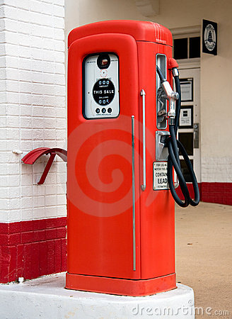 Free Old Red Gas Pump Stock Image - 5963061
