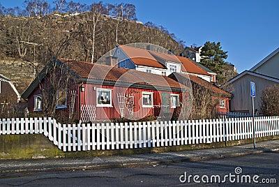Old red house in Halden.