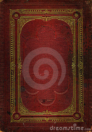 Free Old Red Leather Texture With Gold Decorative Frame Stock Photos - 3780083