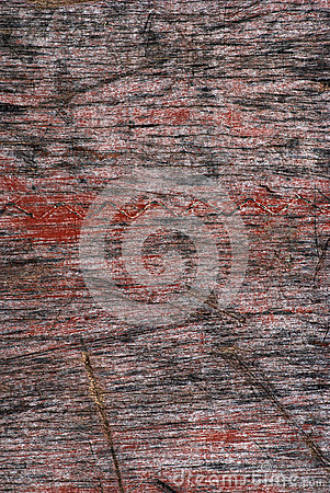 Old red painted wood background