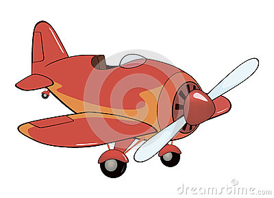The old red plane cartoon