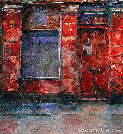 Old red shop