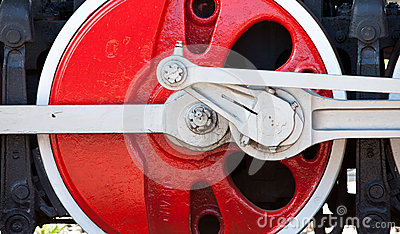 Old red wheel