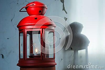 Old red xmas lantern