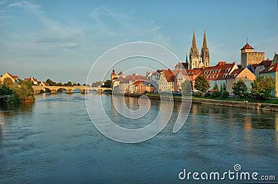 Old Regensburg ,Bavaria,Germany,Hdr