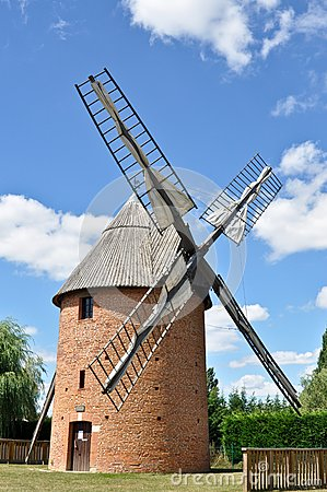 Old renovated windmill