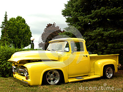 Old restored truck