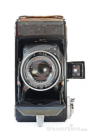 Old retro camera front view Editorial Stock Image