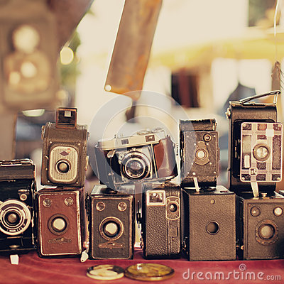 Free Old Retro Cameras Stock Images - 25038314