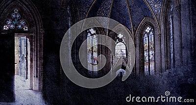 Old retro church