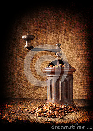 Free Old Retro Coffee Grinder Stock Photography - 29496822