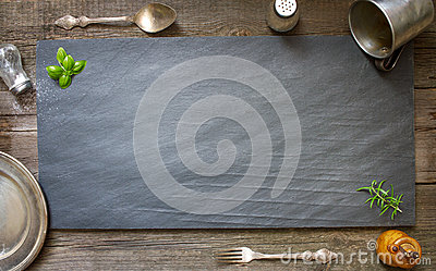 Old retro culinary menu abstract background Stock Photo